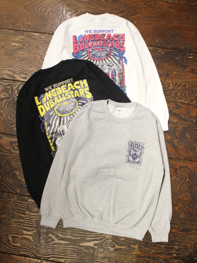 RADIALL × LONG BEACH DUB ALLSTARS  「LONG BEACH - C.N. SWEATSHIRT L/S」  クルーネックスウェット