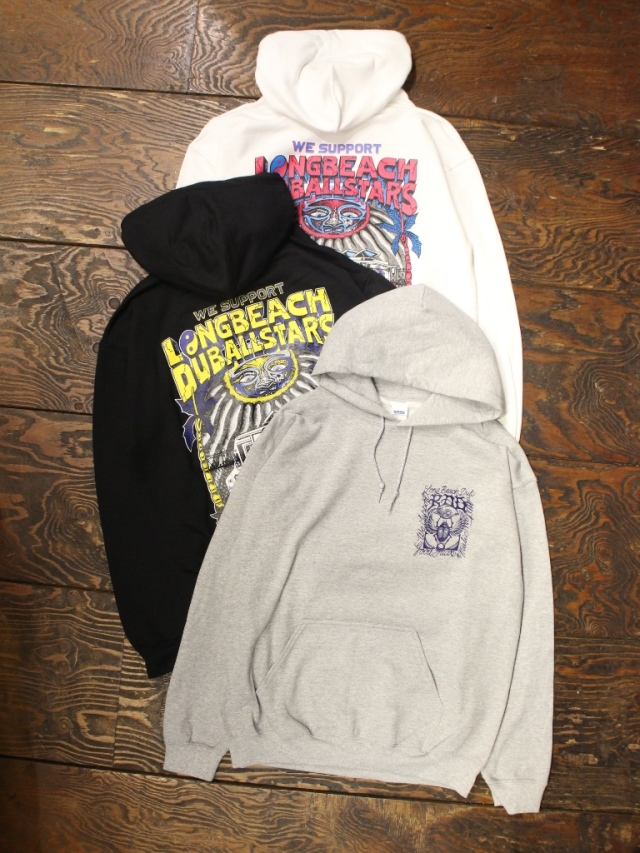 【NEW YEAR ITEM !!】 RADIALL × LONG BEACH DUB ALLSTARS  「LONG BEACH - HOODIESWEATSHIRT L/S」  プルオーバーパーカー
