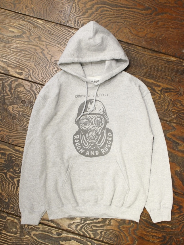 【NEW YEAR ITEM !!】 ROUGH AND RUGGED  「 RR×NUTS HOODED」  プルオーバーパーカー