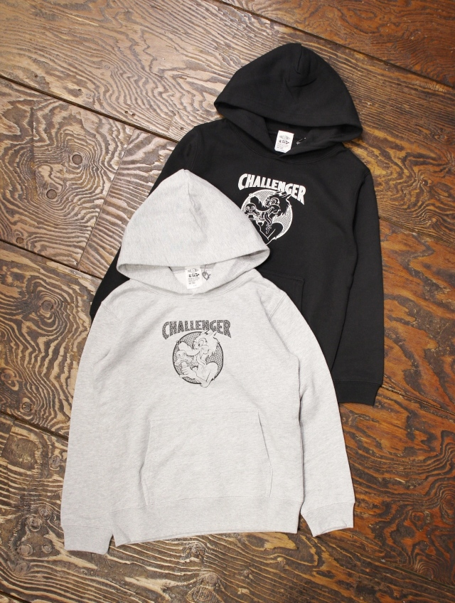 "CHALLENGER   「""CAN'T STOP"" KIDS HOODIE」 キッズパーカー"