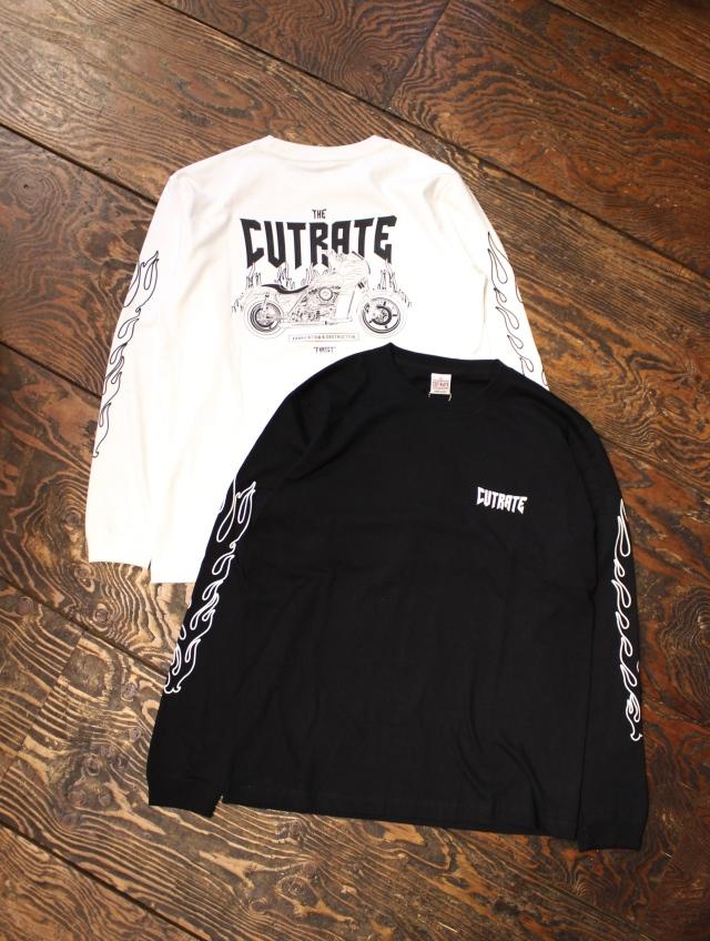 CUT RATE   「FXRTCT L/S T-SHIRT」  プリントロンティー