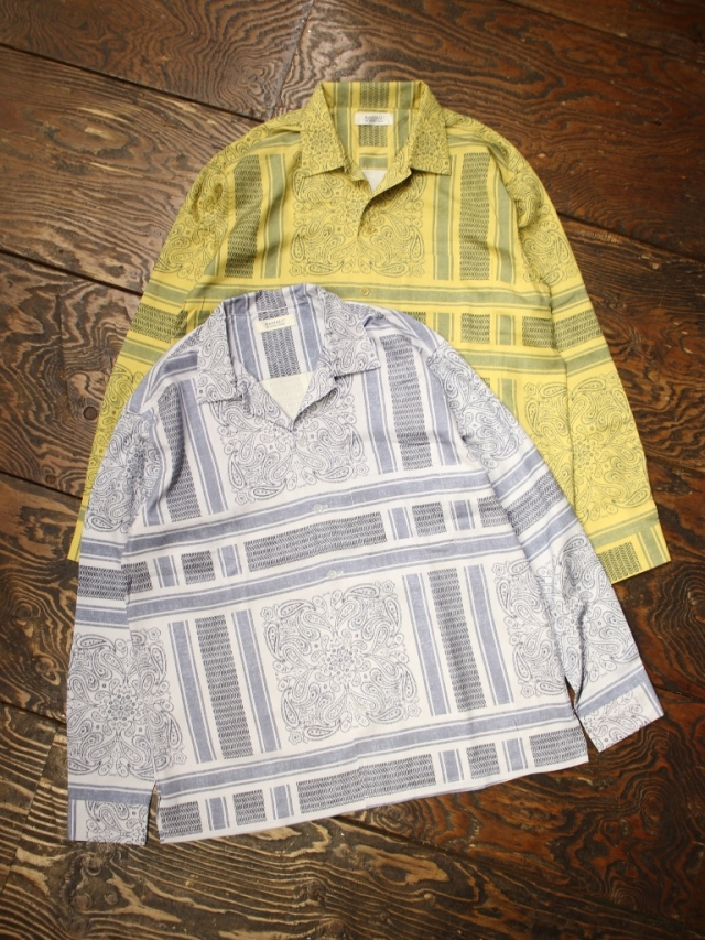 RADIALL  「MONTE CARLO - OPEN COLLARED SHIRT L/S」  オープンカラーシルクシャツ