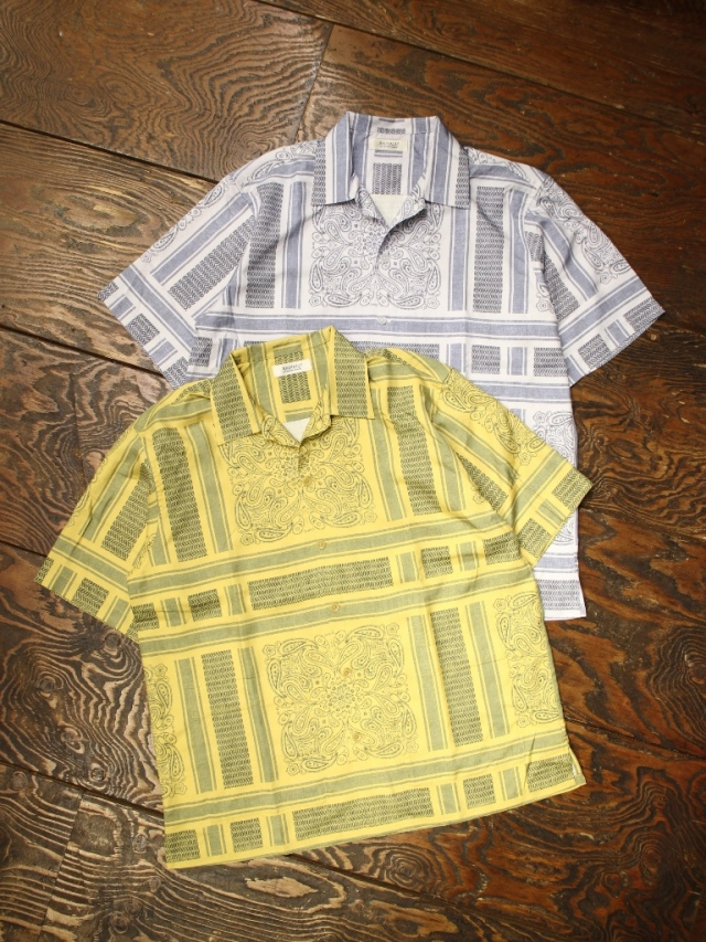 RADIALL  「MONTE CARLO - OPEN COLLARED SHIRT S/S」  オープンカラーシルクシャツ