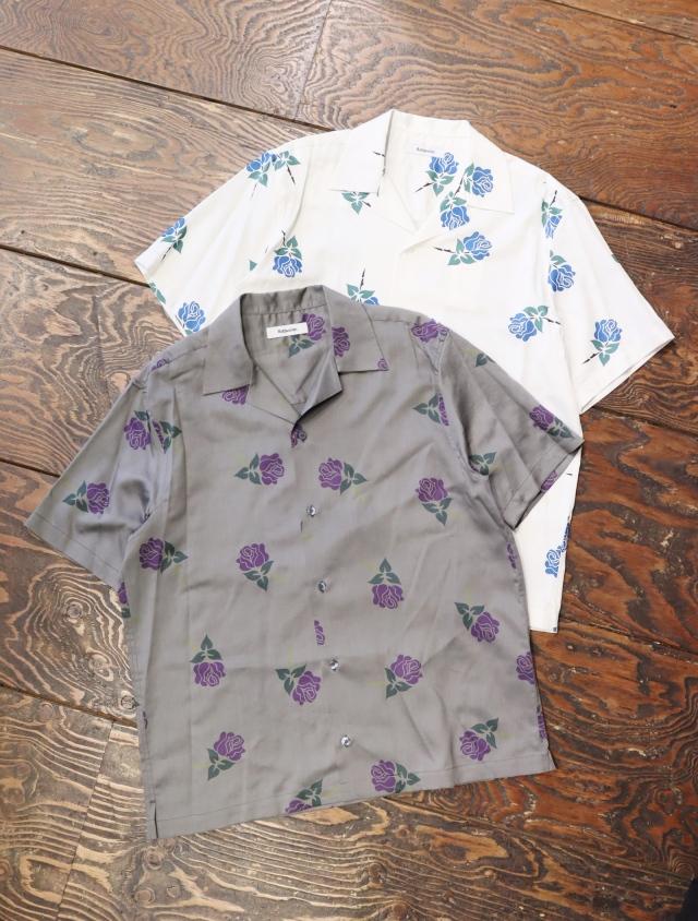 ROTTWEILER  「 ROSE S/S SHIRT  」  オープンカラーシャツ
