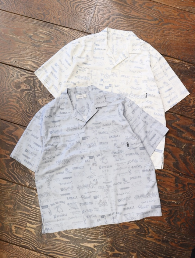 RADIALL  「WALLTAG - OPEN COLLARED SHIRT S/S」  オープンカラーシルク混シャツ