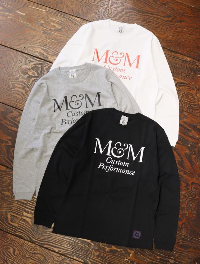 【 9月7日発売!】 M&M CUSTOM PERFORMANCE   「 PRINT L/S T-SHIRT 」 プリントロンティー