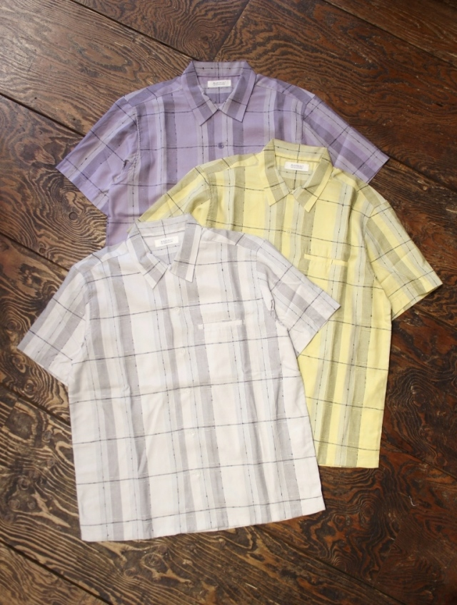 RADIALL  「ROCK STEADY - OPEN COLLARED SHIRT S/S」  チェックシャツ