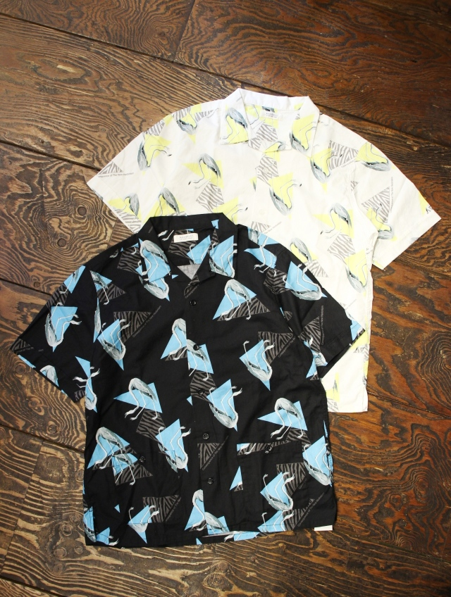 RADIALL  「FLAMINGO - OPEN COLLARED SHIRT S/S」  オープンカラーシャツ