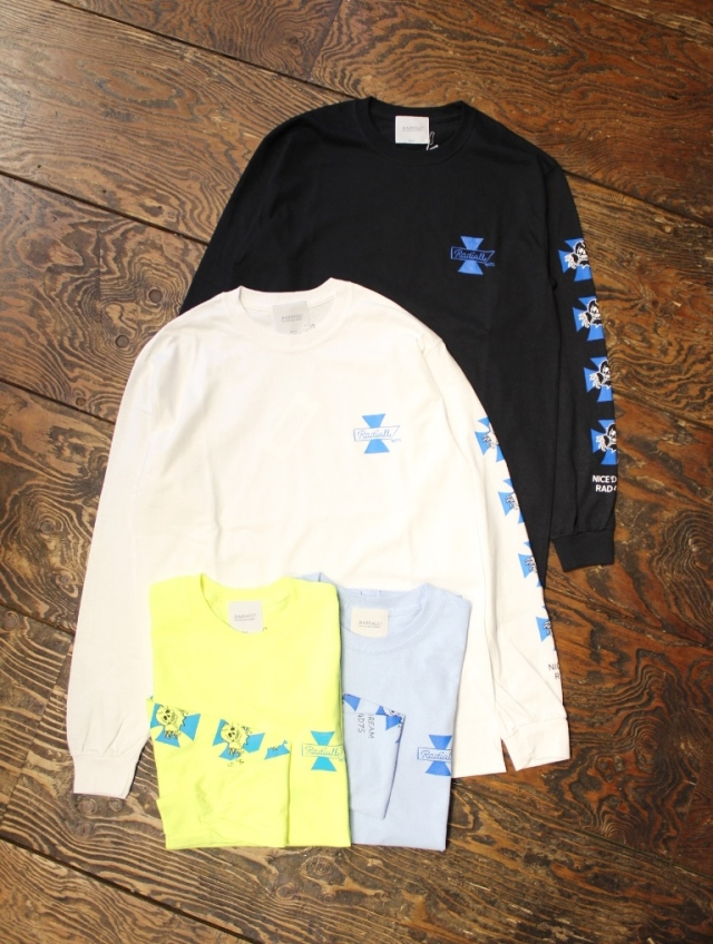 RADIALL × 4D7S   「4D7S - CREW NECK T-SHIRT L/S」 プリントロンティー