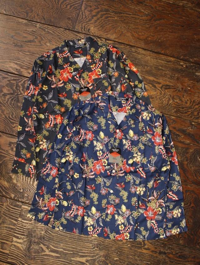 CUT RATE   「FLOWER PATTERN L/S SHIRT」  オープンカラーシャツ