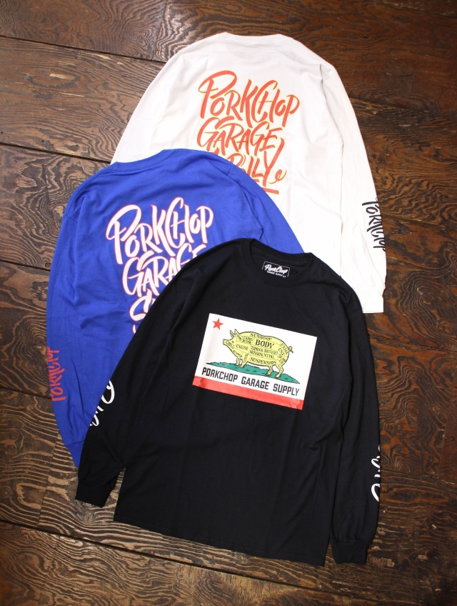 PORKCHOP GARAGE SUPPLY   「 PORK CALIF L/S TEE 」  ロングスリーブティーシャツ