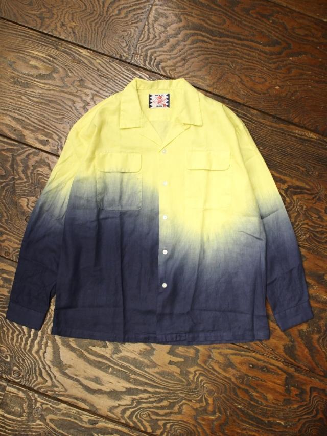 SON OF THE CHEESE  「DYE Shirt」  タイダイ染め オープンカラーシャツ