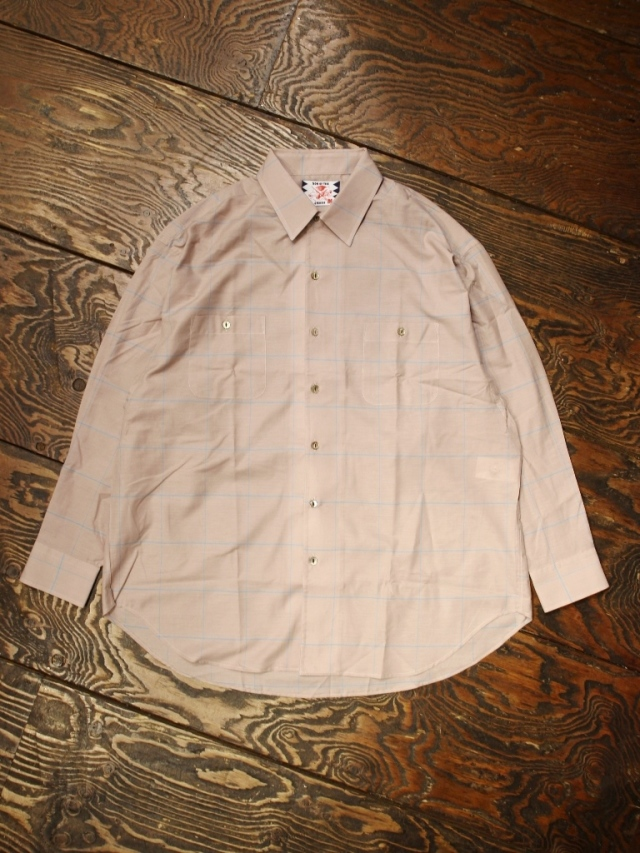 SON OF THE CHEESE  「Big Plaid Shirt」  シルク混ビッグシャツ