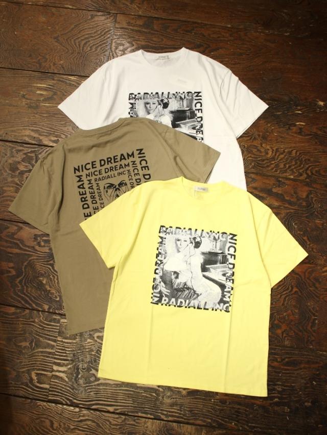 RADIALL    「NICE DREAM - CREW NECK T-SHIRT S/S」 プリントティーシャツ