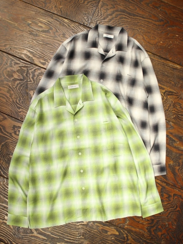 RADIALL  「FAME - OPEN COLLARED SHIRT L/S」  オープンカラーレーヨンシャツ