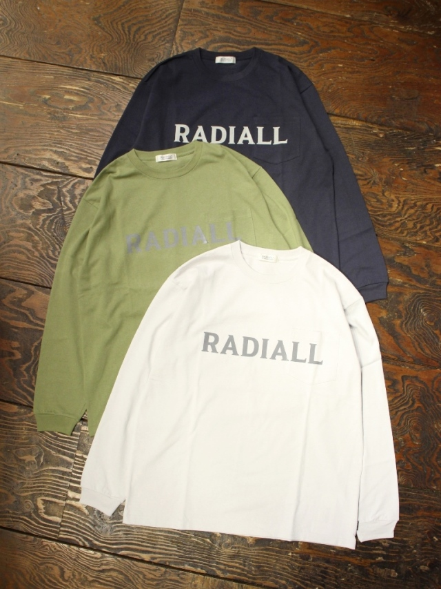 RADIALL  「LOGOTYPE - CREW NECK POCKET T-SHIRT L/S」  プリントポケットロンティー