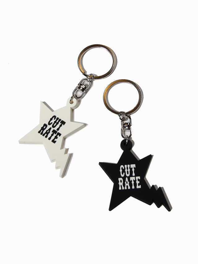 CUT RATE  「ORIGINAL STAR KEY HOLDER」 ラバーキーホルダー
