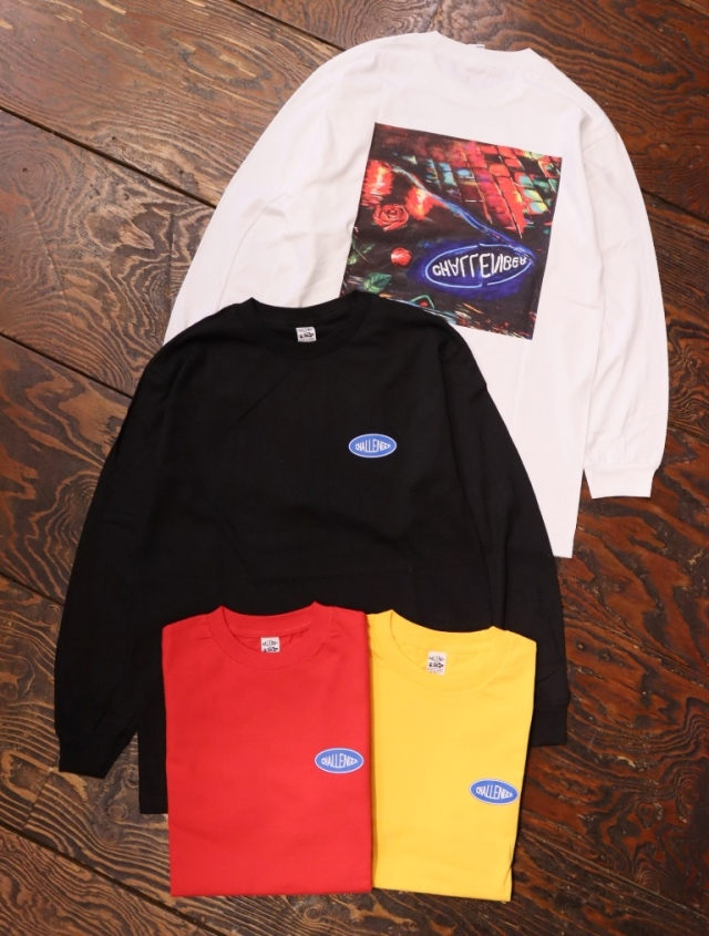 CHALLENGER  「L/S PUDDLE TEE」  プリントロンティー