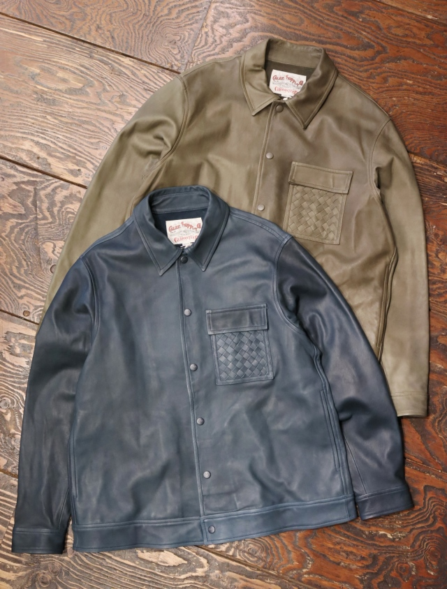【Limited Item !!】 CALEE  「SHEEPSKIN SHIRT JACKET」  シープスキン レザーシャツジャケット