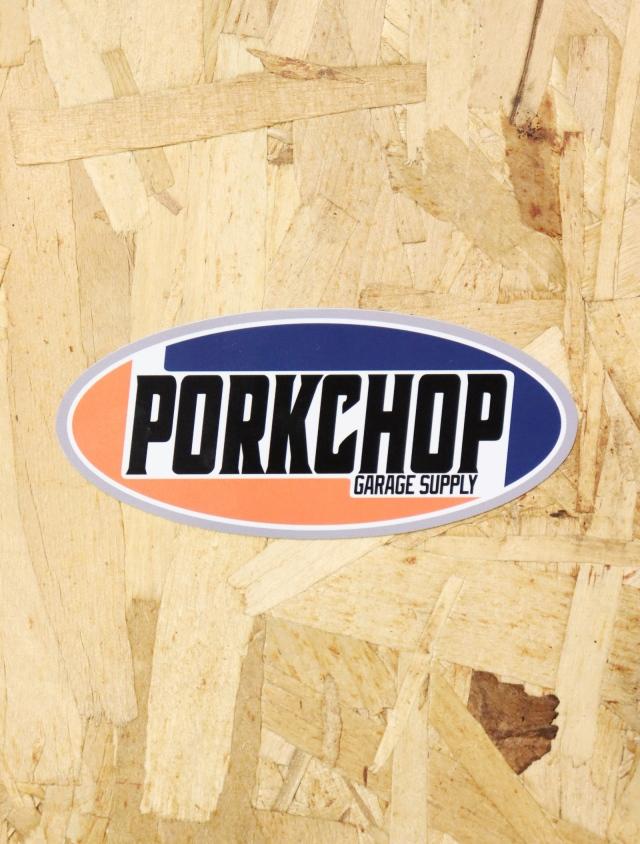 【4月25日 12時~ 発売開始!!】PORKCHOP GARAGE SUPPLY   「2nd Oval STICKER 」  ステッカー