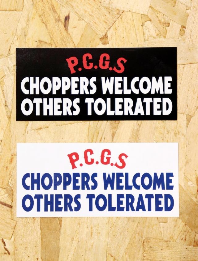 【4月25日 12時~ 発売開始!!】PORKCHOP GARAGE SUPPLY   「CHOPPERS WELCOME STICKER 」  ステッカー