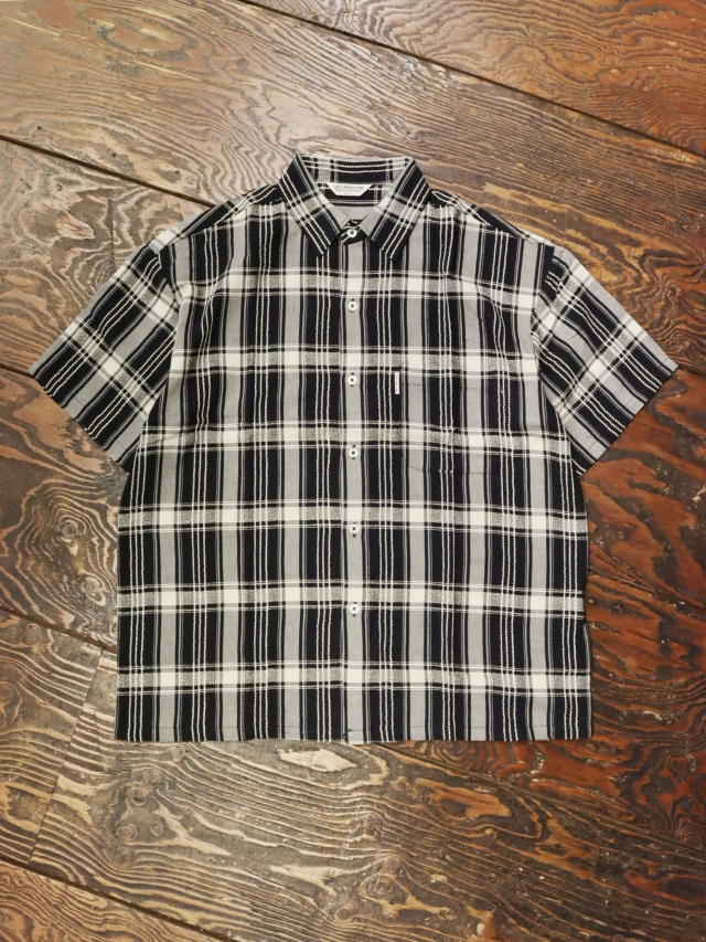 COOTIE  「 Jacquard Check S/S Shirt 」 ジャガードチェックシャツ