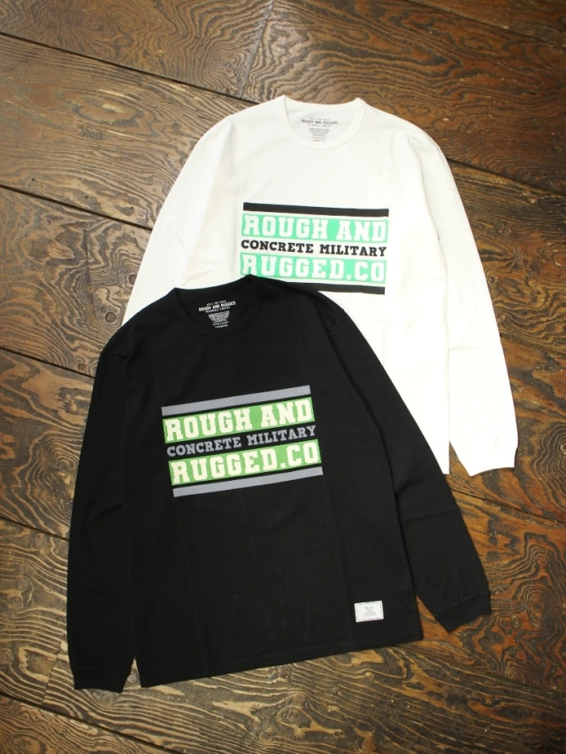 ROUGH AND RUGGED  「DESIGN LS / BAR LOGO」 プリントロンティー