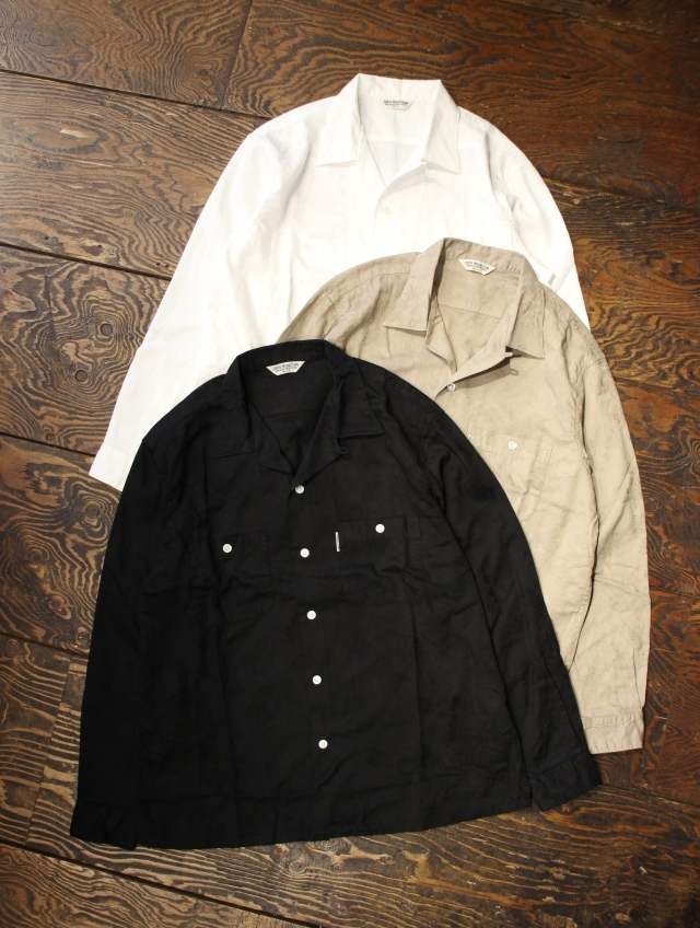 COOTIE  「Paisley Open-Neck L/S Shirt」 ペイズリーオープンカラーシャツ