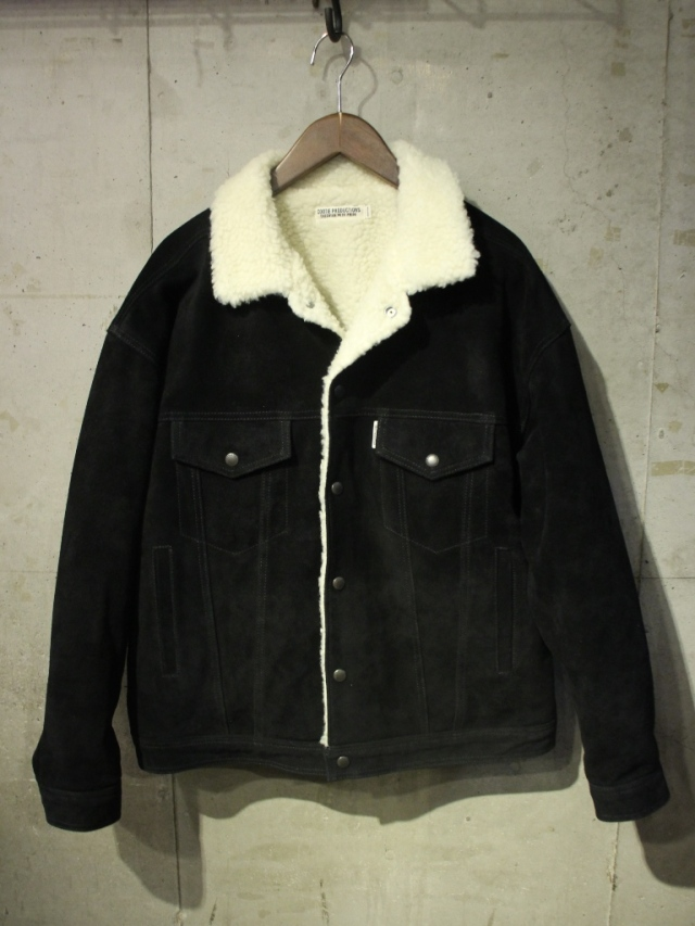 COOTIE  「 Suede Boa Track Jacket 」 スエードレザーボアトラックジャケット