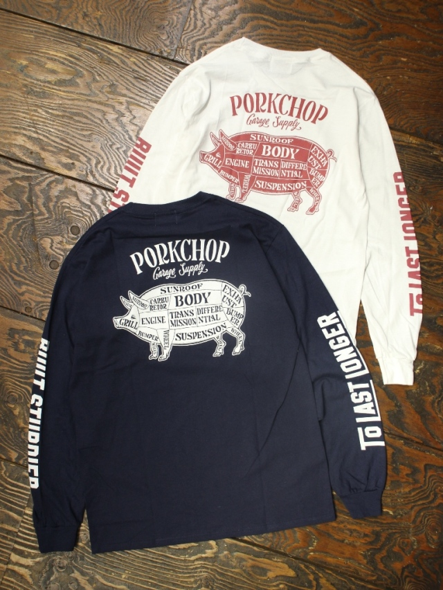 PORKCHOP GARAGE SUPPLY   「 PORK BACK L/S TEE 」  ロングスリーブティーシャツ