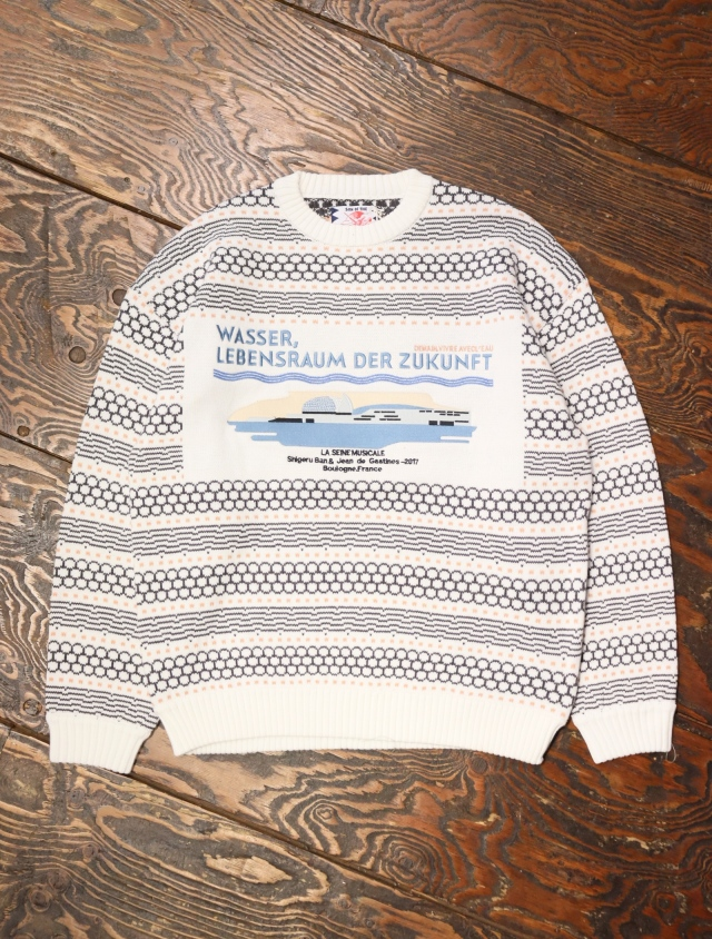 SON OF THE CHEESE  「La Seine Musicale KNIT」  ジャガードニットセーター