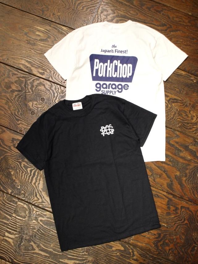 【 4月25日 12:00~ 発売開始 】 PORKCHOP GARAGE SUPPLY   「 FINEST TEE 」 プリントティーシャツ