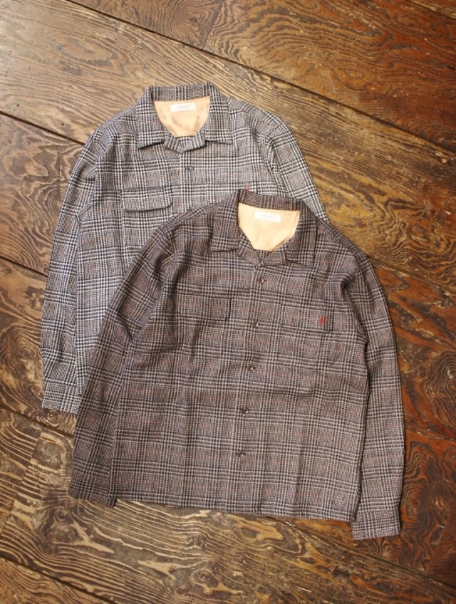 RADIALL  「IMPERIAL - OPEN COLLARED SHIRT L/S」  オープンカラー チェックシャツ