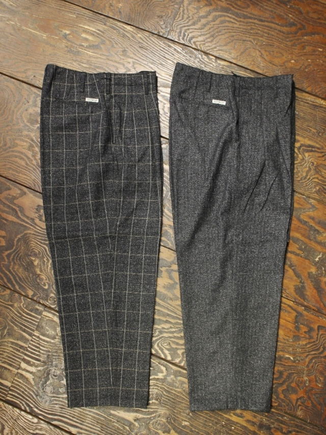 COOTIE  「 Melange Wool 2 Tuck Trousers 」 2タックウールトラウザーパンツ