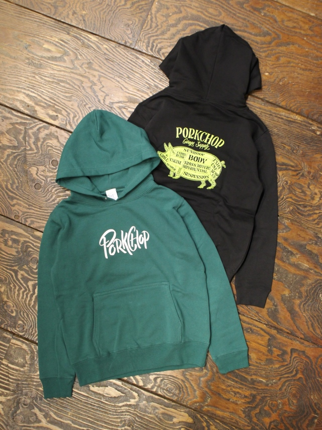 PORKCHOP GARAGE SUPPLY   「 PORK BACK HOODIE for Kids P-20 」  キッズパーカー