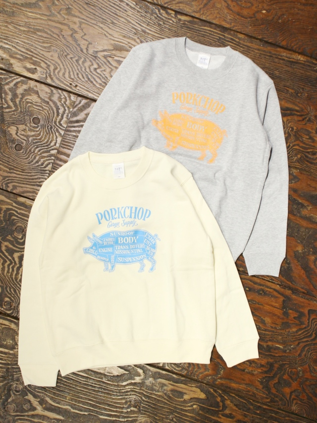 PORKCHOP GARAGE SUPPLY   「 PORK FRONT SWEAT for Kids P-20 」  キッズスウェット