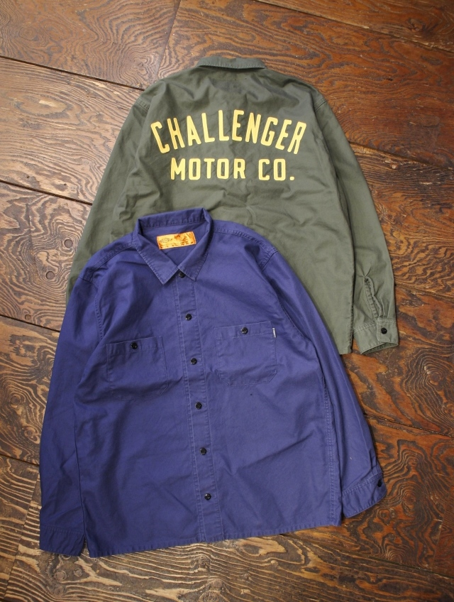 CHALLENGER    「MOTOR CO. SHIRT」 ワークシャツ