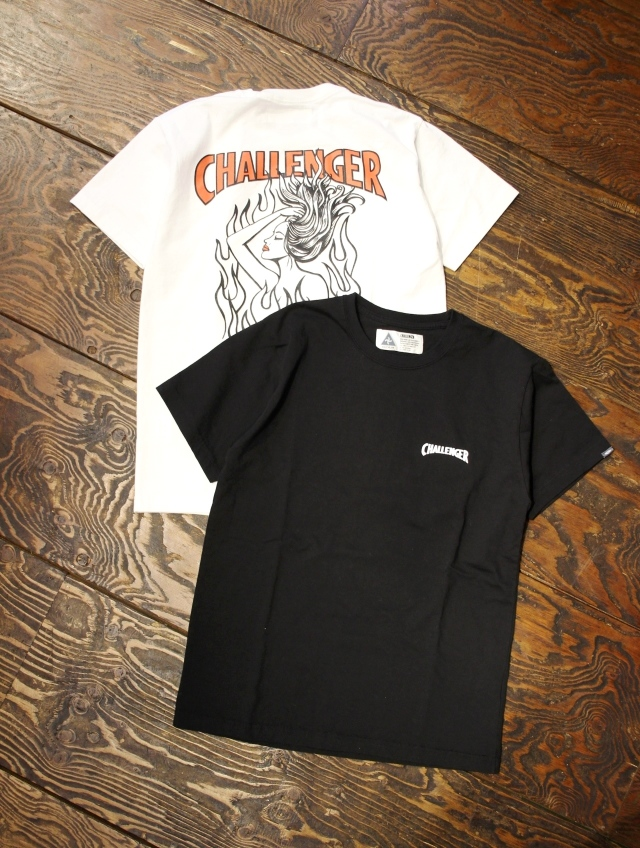 CHALLENGER  「FIRE LADY TEE」 プリントティーシャツ