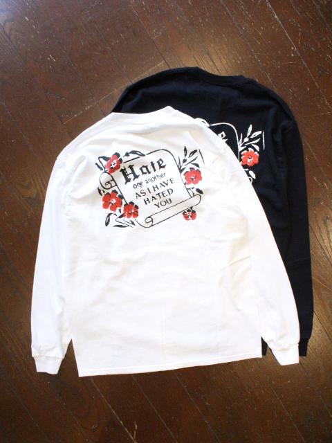 HIDEANDSEEK 「Hate  L/S Tee」 ロングスリーブティーシャツ