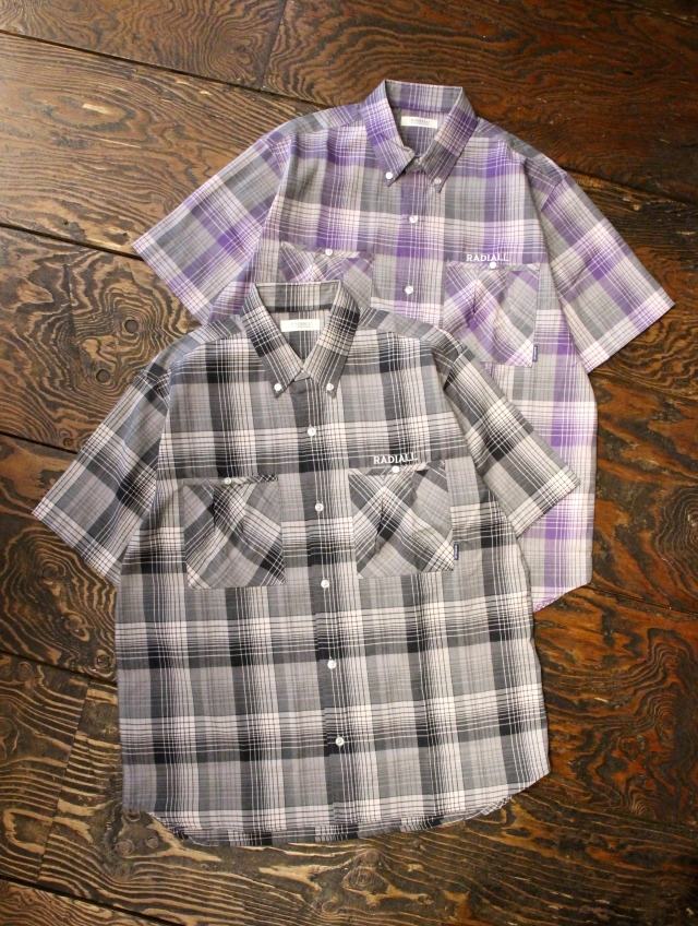 RADIALL  「COMPTON - REGULAR COLLARED SHIRT S/S」  チェックワークシャツ