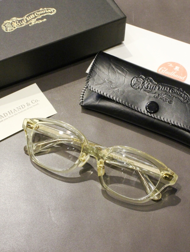 GLADHAND × 丹羽雅彦  「J-IMMY GLASSES ORNAMENT 〈CLEAR / GOLD〉」  グラッシーズ