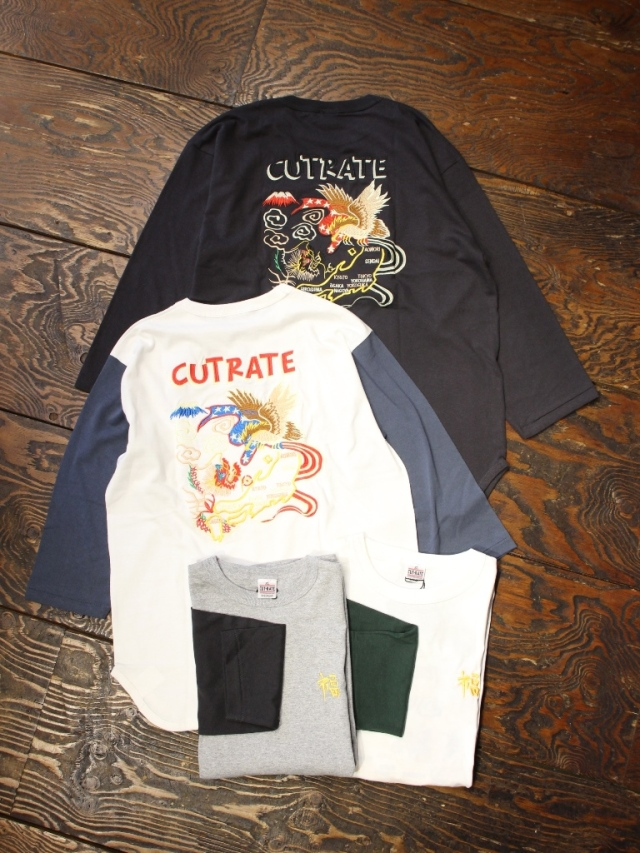CUT RATE  「SOUVENIR SET IN 7TH T-SHIRT」 セットイン7分ティーシャツ