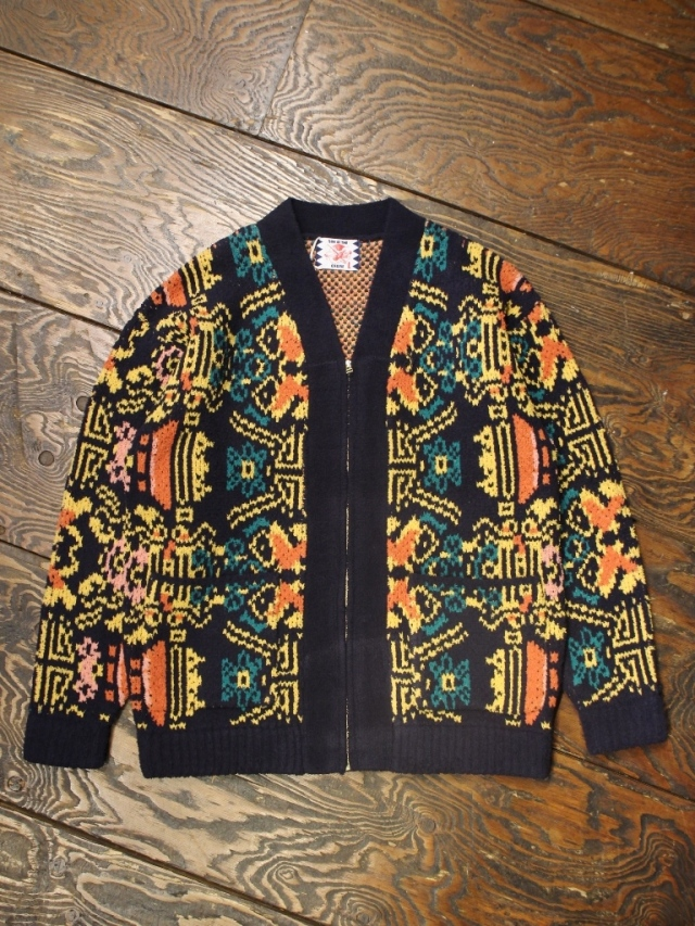 SON OF THE CHEESE  「 WALLPAPER CARDIGAN 」 フェザーニットカーディガン