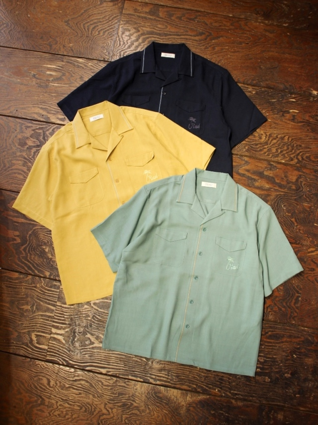 【 Limited Item !! 】 RADIALL × MASH UP    「HEDONISM - OPEN COLLARED SHIRT S/S 」  オープンカラー レーヨンシャツ
