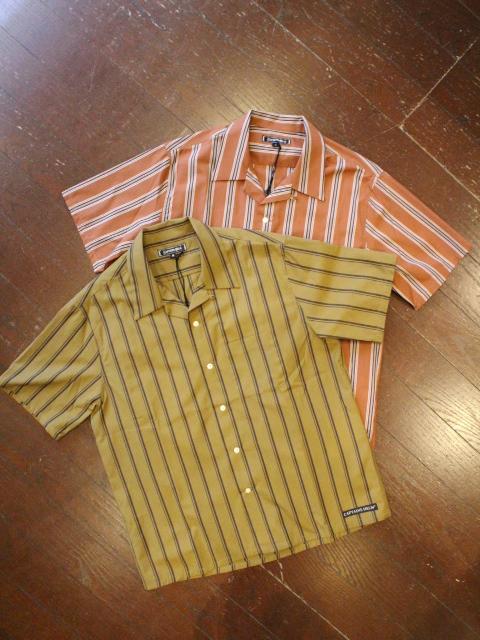 CAPTAINS HELM 「#STRIPE O/C SS SHIRTS」 オープンカラーストライプシャツ