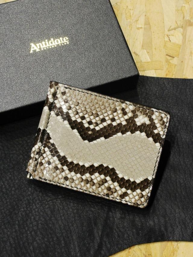 ANTIDOTE BUYERS CLUB   「 Money Clip Wallet  (Python) 」 マネークリップウォレット