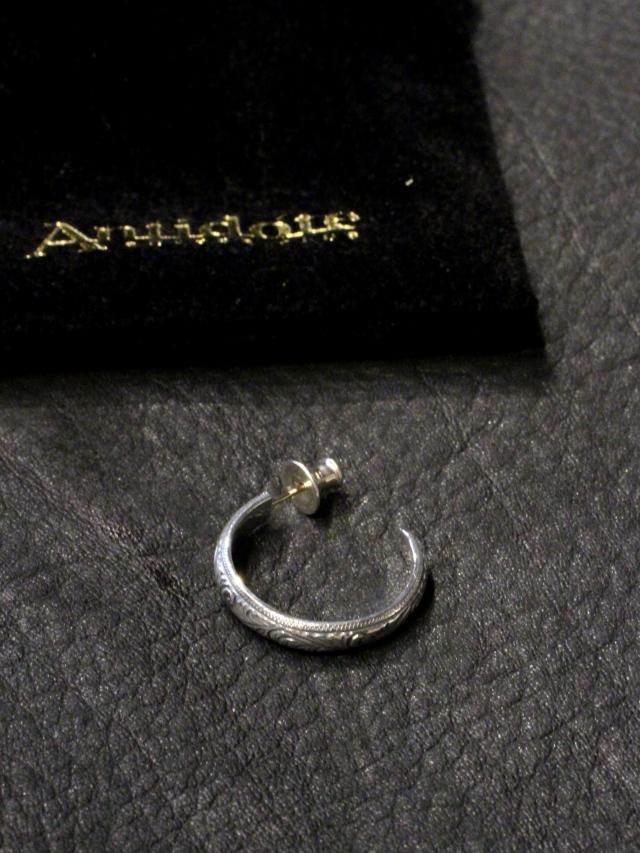 ANTIDOTE BUYERS CLUB   「Engraved  Hoop Earring 」 SILVER950製 ピアス