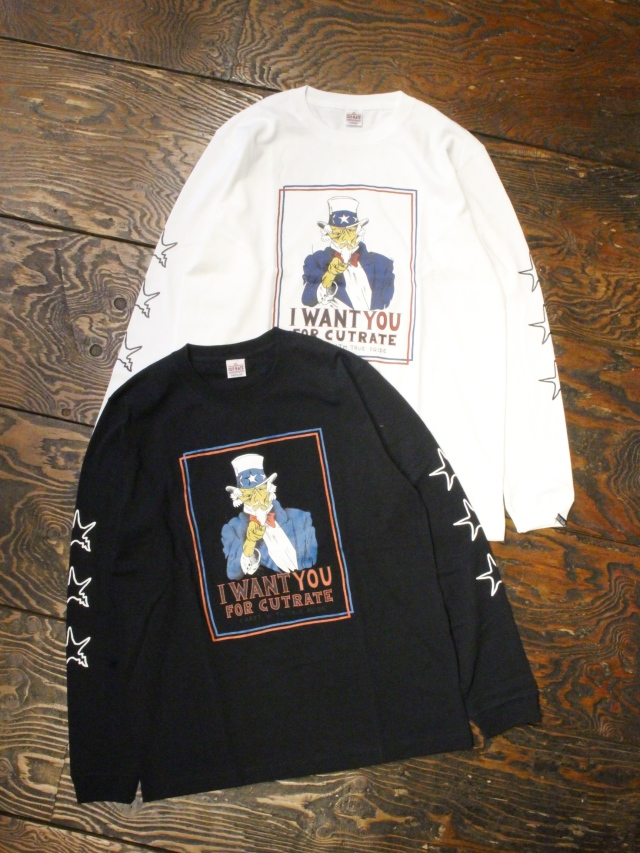 CUT RATE  「I WANT L/S T-SHIRT」 プリントロンティー
