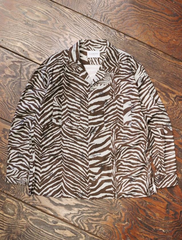 Black Weirdos  「 Zebra Open Collar Shirt 」 オープンカラーシャツ