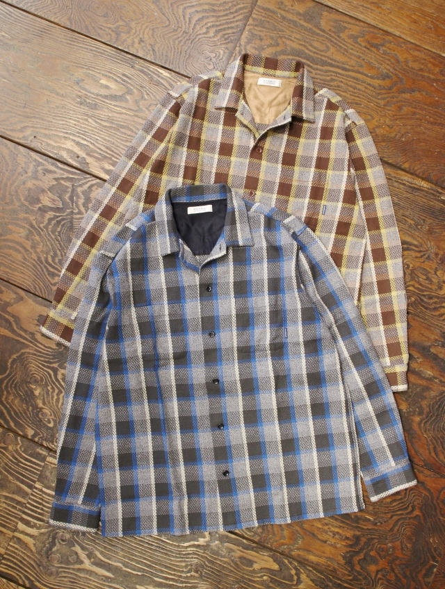 RADIALL  「EL CAMINO - OPEN COLLARED SHIRT L/S」  オープンカラーチェックシャツ